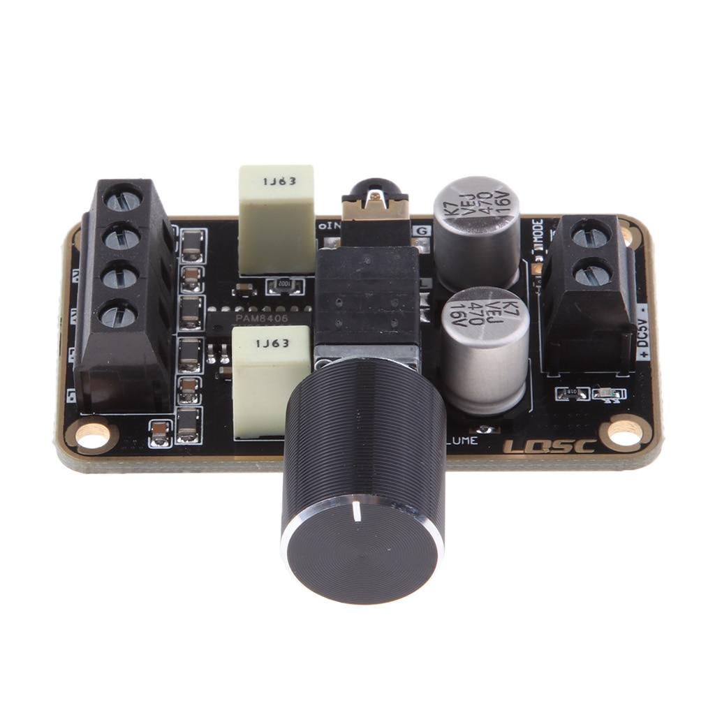 5V 5W+5W PAM8406 Class D Digital Power Amplifier Board DIY