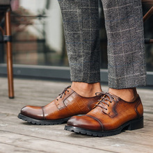 QYFCIOUFU 2019 New formal shoes men genuine leather Male Dress Shoes Wedding Office Party Oxford Dress Shoe luxury designer shoe