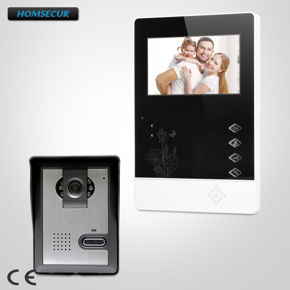 HOMSECUR 4.3 Wired Video Door Entry Phone Call System with Intra-monitor Audio Intercom XC005+XM403 homsecur 4 3 xm403 color indoor monitor for video door phone intercom system