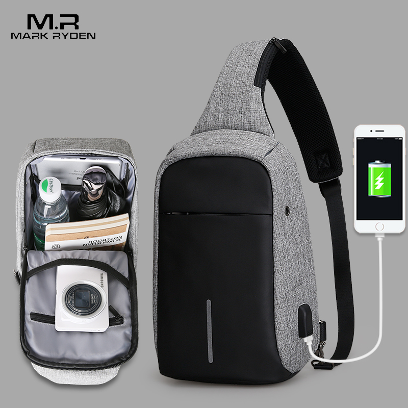 Mark Ryden New Arrival Crossbody Bags Men Anti-theft Chest Pack Summer Short Trip Messengers Bag Water Repellent Shoulder Bag