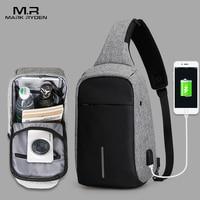 Mark Ryden New Arrival Crossbody Bags Men Anti theft Chest Pack Summer Short Trip Messengers Bag Water Repellent Shoulder Bag
