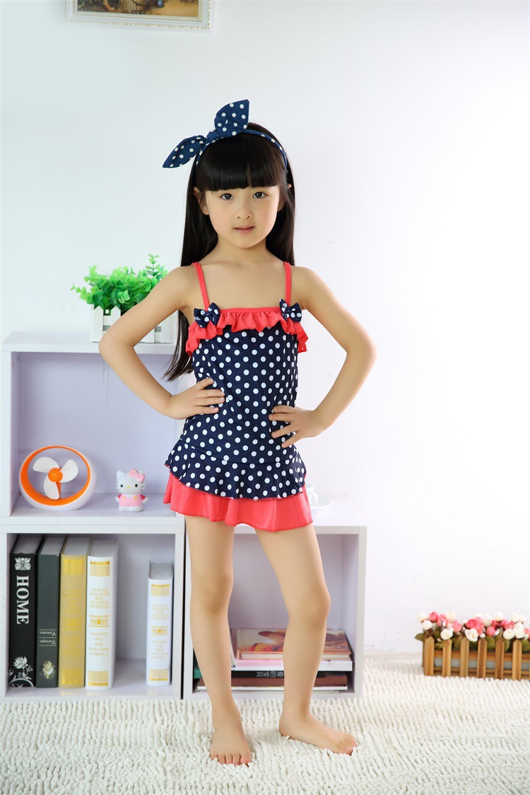 1Pcs Free Shipping One Piece Baby Girls Bathing Suit Children Swimmer -2977