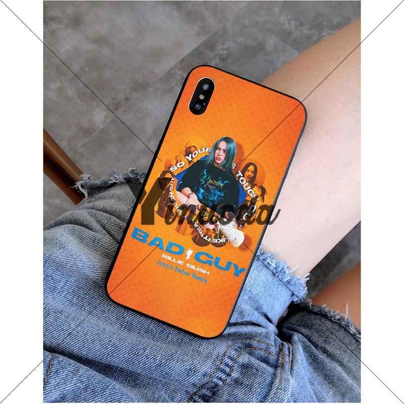 Yinuoda bad guy billie eilish อุปกรณ์เสริมสำหรับโทรศัพท์น่ารักสีสันสดใสสำหรับ iPhone 5 5Sx 6 7 7plus 8 8 plus X XS MAX XR