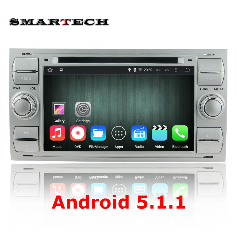 2 din Android 5 1 1 Quad Core 7 inch car dvd player gps for Ford