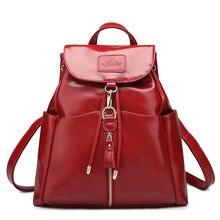 Новинка 2017 г. Высокое качество женские рюкзаки известных брендов Модные женские кожаный рюкзак школьные рюкзаки для девочек-подростков