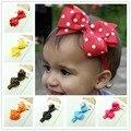 Kid Hair Ribbon Bow Dots Headband Baby Girl Hair Accessories Infant Hair Elastic Hairband Cute Candy Color Headwear