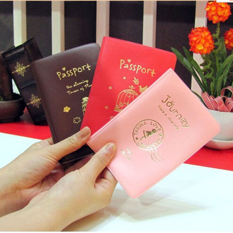 Women Men PU Leather Cover On The Passport ID Credit Card Holder Passport Cover Brand Unisex Travel Accessories