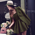 Dabuwawa spring army green all match OL suit jacket