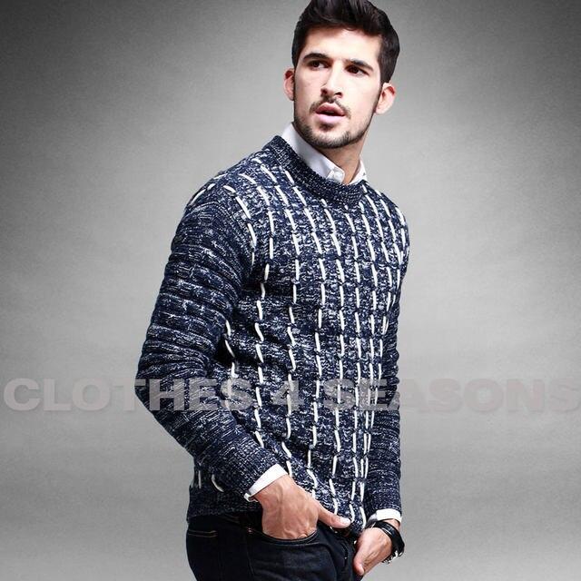 Online Shop 2015 New Winter Men\'s Pullover Cotton Sweater Fashion ...