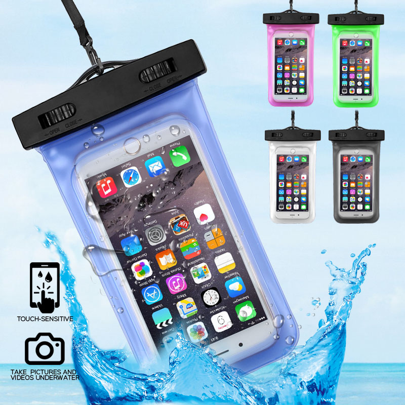 <font><b>360</b></font> <font><b>Degree</b></font> Sealed Waterproof Mobile Phone <font><b>Case</b></font> Pouch For <font><b>iPhone</b></font> X Xs 8 <font><b>7</b></font> 6 6SUnderwater Coque Bag Dry Cover Swimming Phone Bags image
