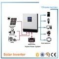 ENVÍO GRATIS Híbrido solar fuera de la red inversor 3kva 2400 w DC 24 v A AC 220 v/230 v de onda sinusoidal pura/mppt regulador solar del cargador/Adaptadores de ca