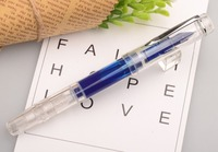 Caliarts Ego 2th 0 35MM 0 5MM Transparent Piston Pens Ink Fountain Pen Gift Packageg For