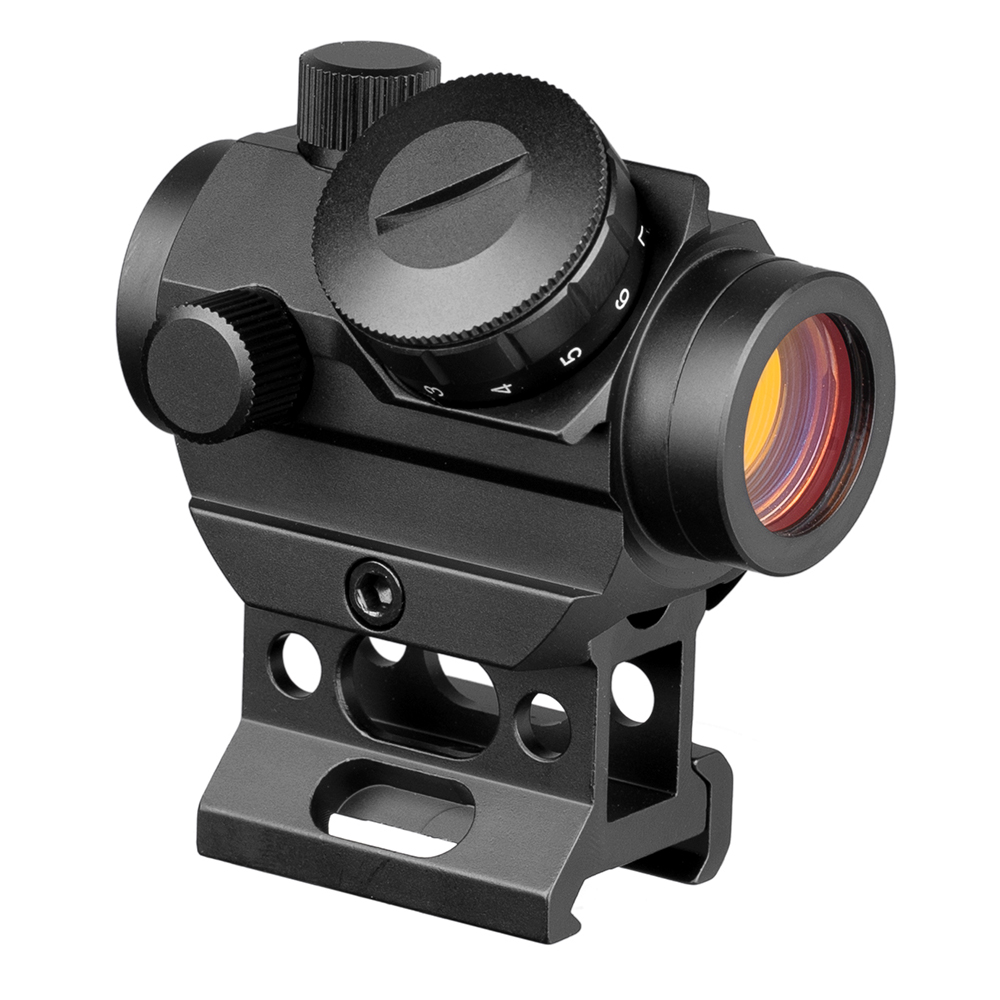 Red Dot Sight Laser Picatinny Rail Mount 20mm Tactical Hunting M1 Red Dot Sight Airsoft Red Dot Scope With High Mount Rail