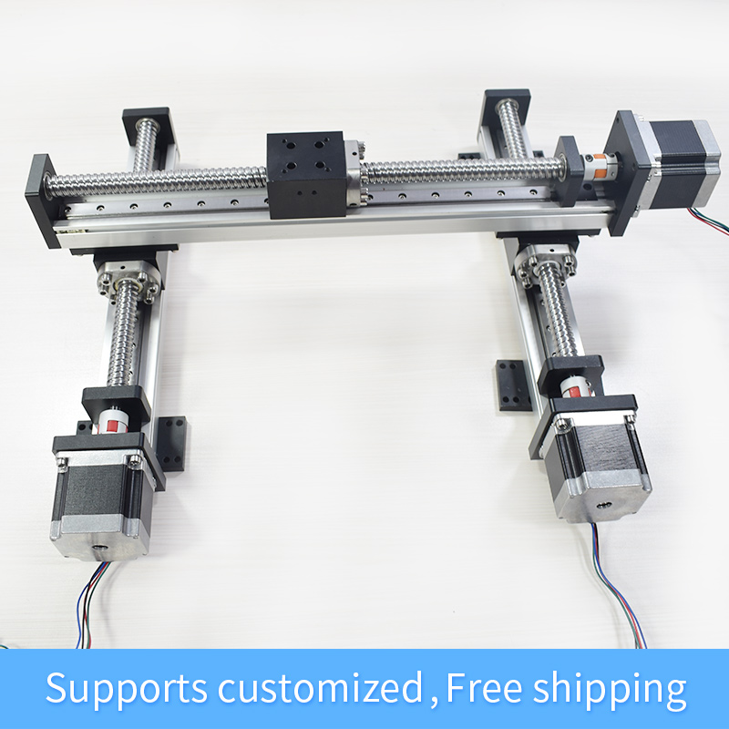 RXS-42 XY Table Gantry Linear Module Robotic Arm Rod Ball Screw Guide  Sliding Table Motion Rail Actuator Motorized Router
