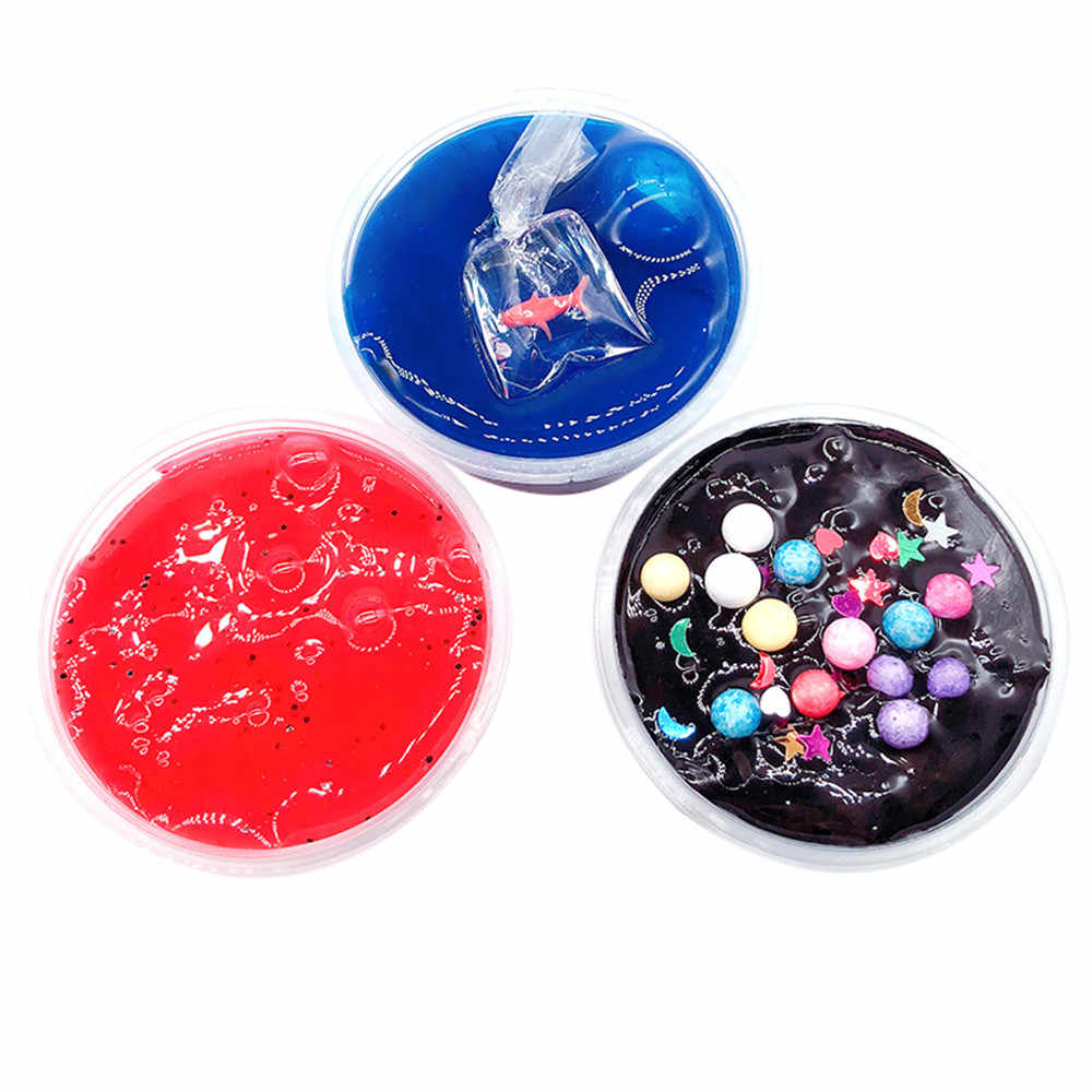 Puff Crystal Mud Mixing Cloud Slime Putty Scented Anti stress Kids Clay Squishy Funny Toys for Children Surprise Dropshipping