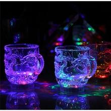 New Hot Sale LED Night Light Whisky Shot Drink Acrylic Cup Flashing Dragon Beer Bar Party Wedding Club wedding decoration Gift цены