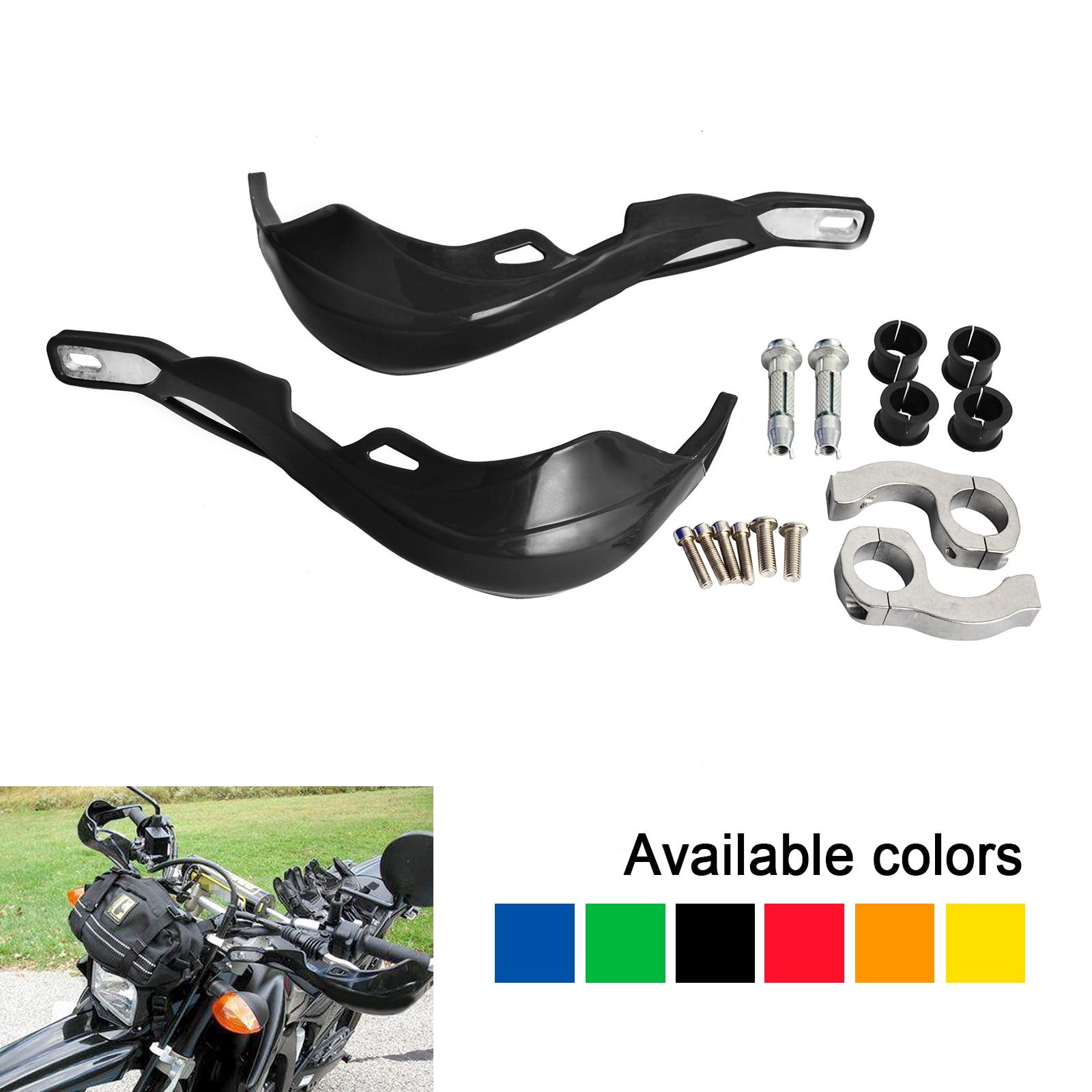 Black GOOFIT Handlebar Hand Brush Guards Protector Handguards for Honda Kawasaki Yamaha Suzuki Motocross Motorcycle Off-road Pit Dirt Bike ATV