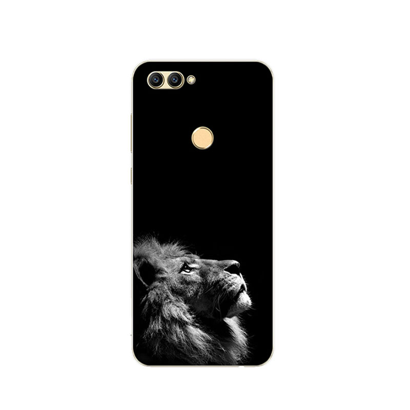 For ZTE Blade V9 Case 5.7 Cute Wolf Painted Soft Silicone TPU Phone Back Cover For ZTE Blade V9 V 9 Protector Cases Fundas Shell