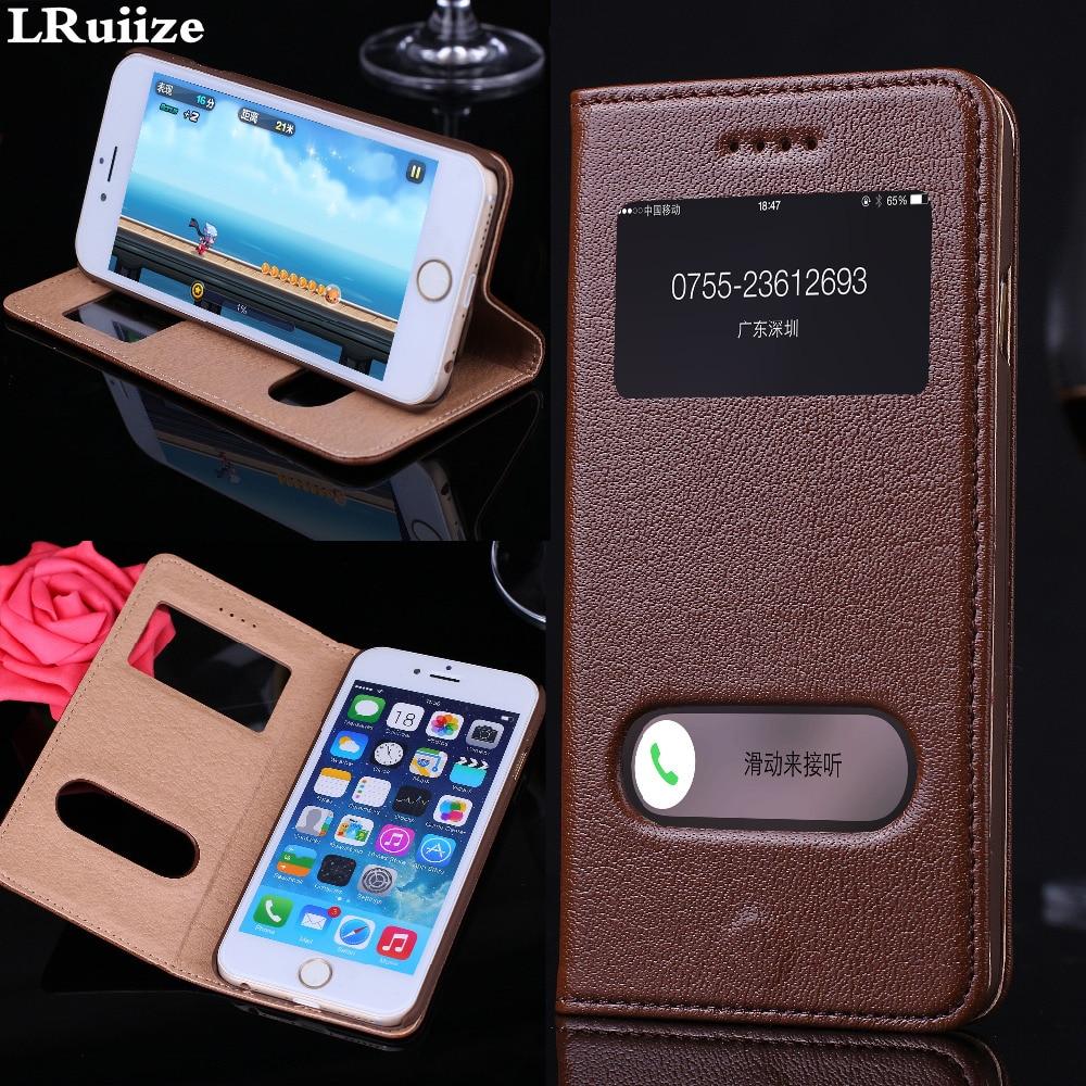 LRuiize iphone 6s 6 Plus Təbii Orijinal İnək Dəri Lüks Ultra - Cib telefonu aksesuarları və hissələri - Fotoqrafiya 1