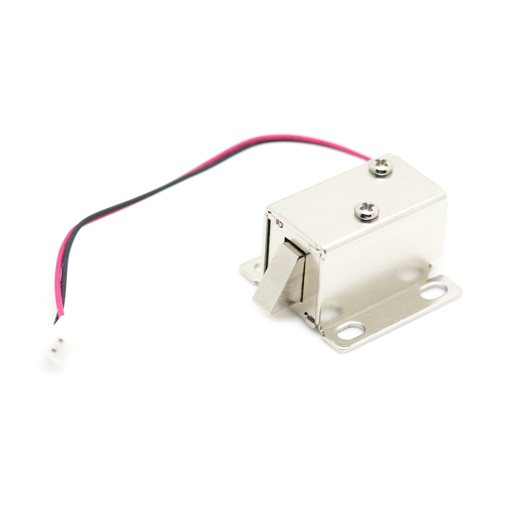 DC 5V-6V/DC 12V Mini Small Size Solenoid Electromagnetic Electric Control Cabinet Drawer Lock for DIY Project plastic