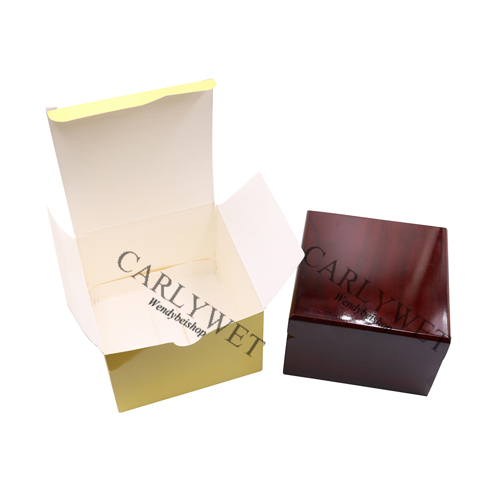 CARLYWET Wholesale Fashion Luxury Wood Watch Box Jewelry Storage Case Gift Box With Pillow For Rolex Omega IWC Breitling Tudor 7