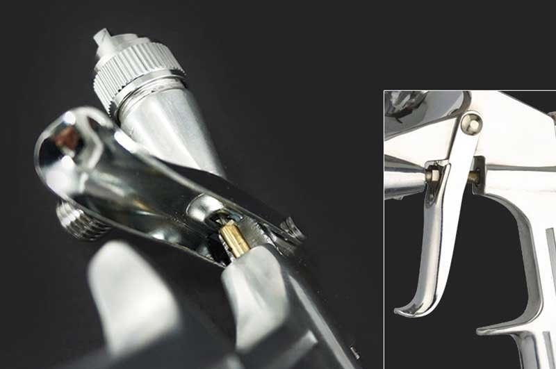 0 5mm Professional Mini Airbrush Spray Gun Airless Aerografo Sprayer Alloy Leather Painting Paint Tool Pistola in Spray Guns from Tools