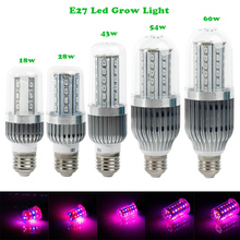 New Arrive18W/28W/43W/54W/60W E27 Led Grow Light /Grow Lamp Leds For Plants and Led Light Hydroponic System High Brightness