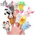 Varejo 50 pçs/lote Baby Toy Plush, Fantoches de Dedo, Falar bonecas Adereços educacional 10 Grupo de Animais 2014 Frete Grátis