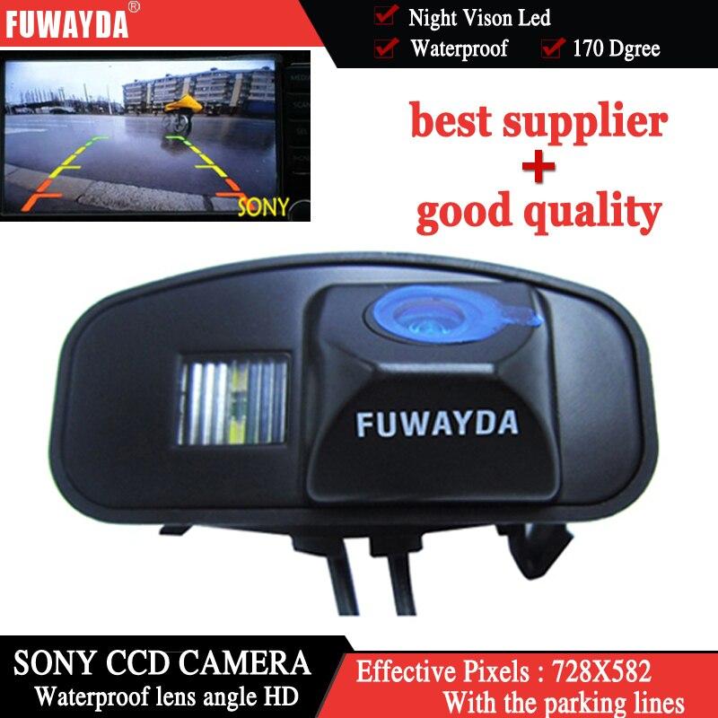 FUWAYDA Car Reverse Rear View Backup High Definition Color SONY CCD CAMERA For Honda CRV CR-V Odyssey Fit Jazz Elysion