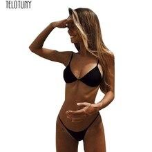 TELOTUNY женский купальник, женский бюстгальтер с подкладкой, стринги, купальник из двух частей, купальник, женский купальник, модный, хит, Jan15