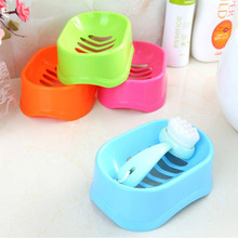 1PC Colorful  Bathroom Shower Soap Box Multi-functional Storage Dish Plate Tray Holder Case Container