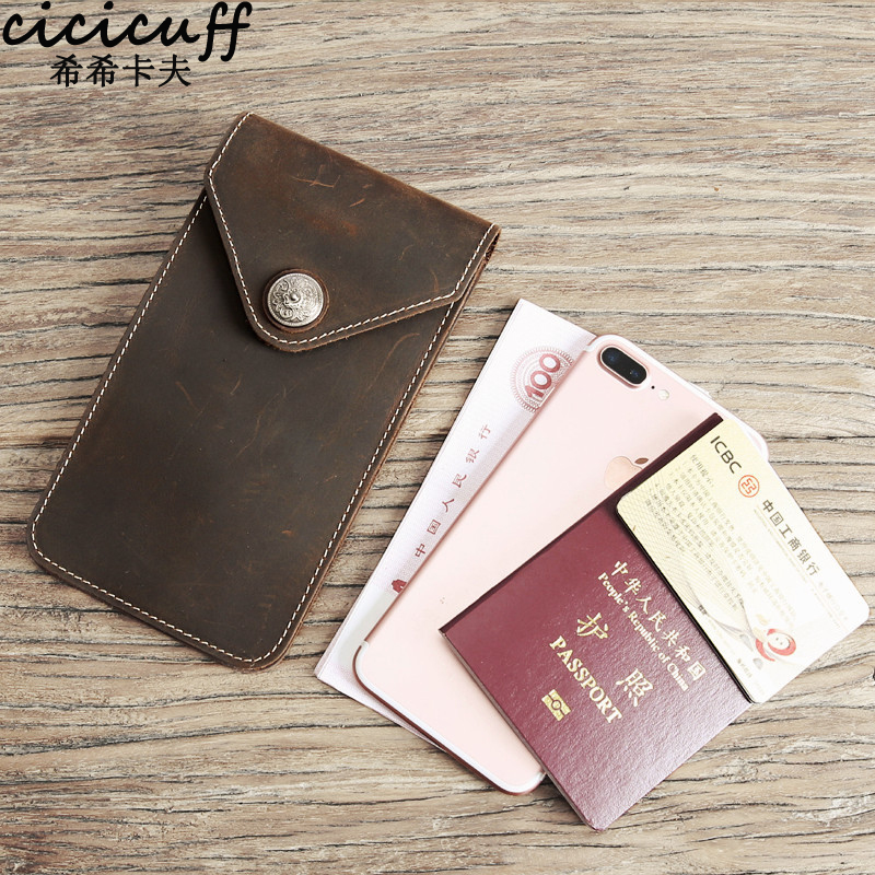 CICICUFF New Natural Leather Waist Pack Women Genuine Leather On Cover For Phone Passport Certificate Holder Travel Wallet Case