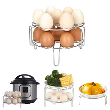 2pcs Steamer Rack Instant Pot Stackable Egg Vegetable Pressure Cooker Steam Rack Stainless Steel Food Basket Stand Steamers