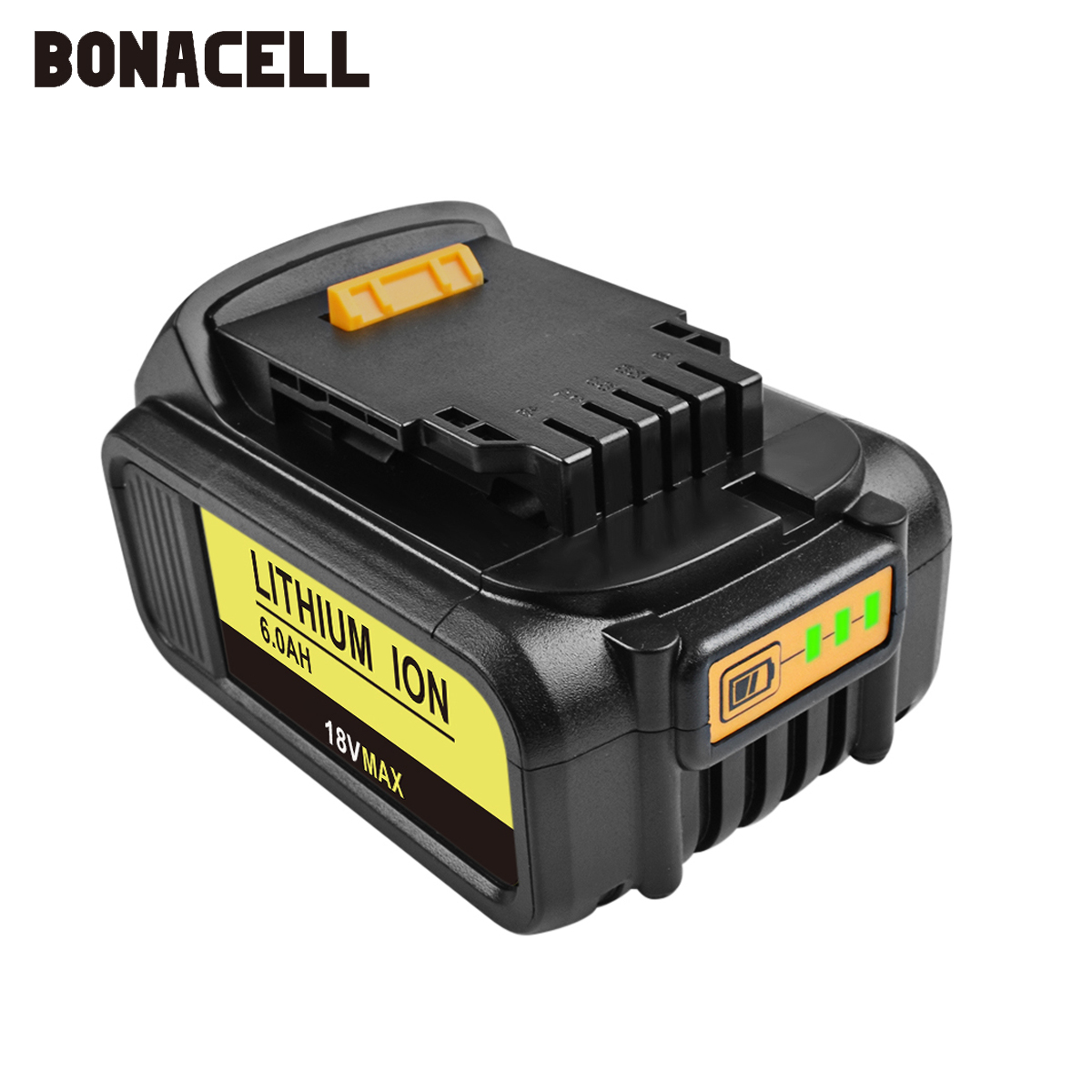 Image 4 - Bonacell 6000mAh 18V for Dewalt Power Tool Battery for DCB180 DCB181 DCB182 DCB201 DCB201 2 DCB200 DCB200 2 DCB204 2 L10-in Replacement Batteries from Consumer Electronics
