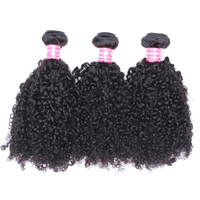3B 3C Kinky Curly Hair Human Hair Bundles Brazilian Hair Weave Bundles Natural Color Human Hair Extensions Comingbuy Remy