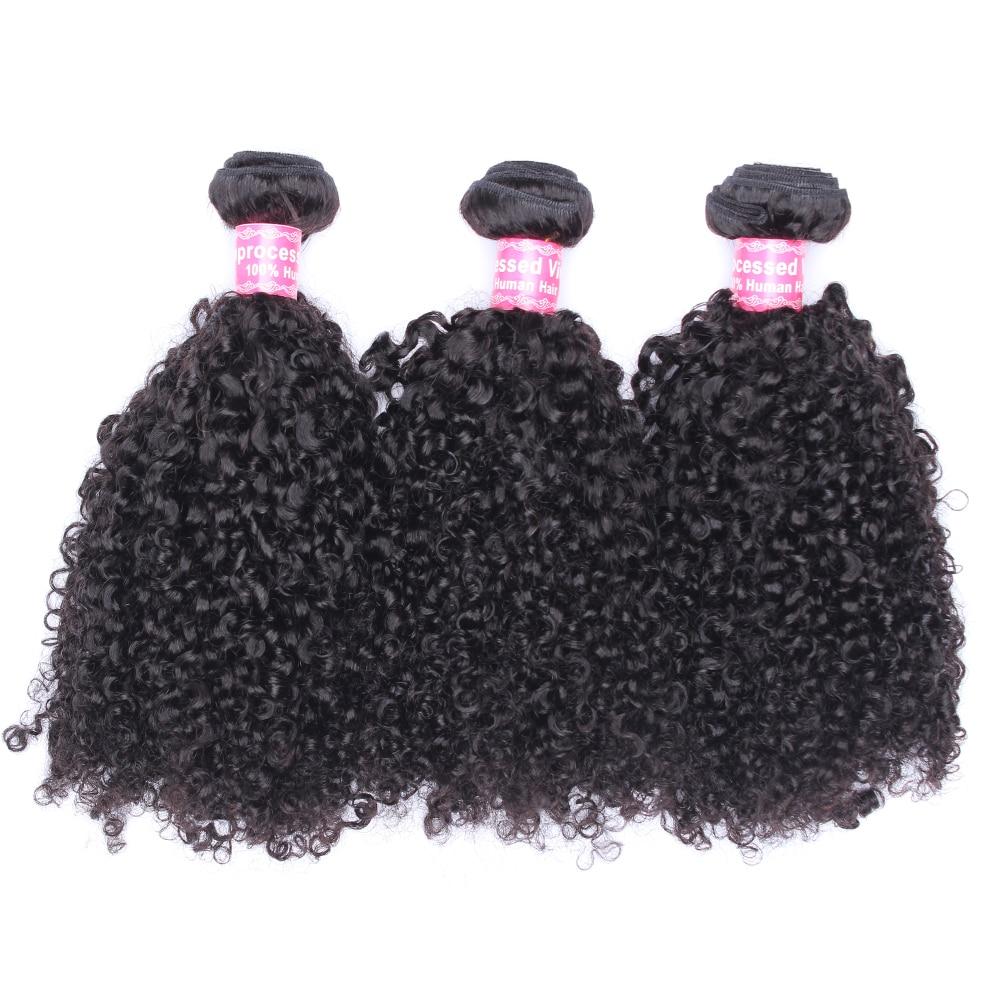 3B 3C Kinky Curly Hair Human Hair Bundles Brazilian Hair Weave Bundles Natural Color Human Hair Extensions Comingbuy Remy
