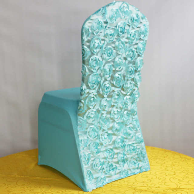 Tiffany Chair Cover Wedding Decoration Polyester Spandex Dining Chair Covers  For Royal Blue Christmas Banquet Party