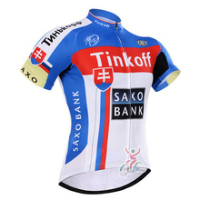 Cycling Jersey 2016 Tinkoff Mans Pro Bicycle Clothing Cycling Clothing Sport Bike Jersey Tops Summer Breathable Bike Shirt For  недорого