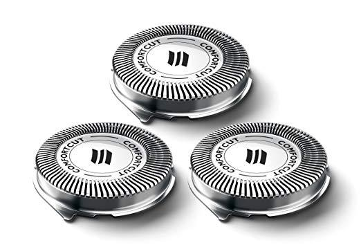 3pcs Shaver Blade Razor Replacement Shaver Head for Philips Norelco SH30/52 Series 1000 2000 3000 HQ64 PT720 PT724 S5010 PT722