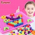 TUMAMA New Creative Toys Patterns Mosaic Pegboard Mushroom Nails Jigsaw Puzzle Toy
