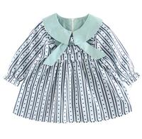 0 4years Wholesale 2018 New Spring Cotton Full Sleeves Bow Stripe Girls Dresses Pick Size
