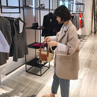2018 spring new style casual one grain buckle small suit coat big sleeve suit woman