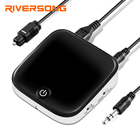 RIVERSONG Bluetooth Transmitter Receiver Wireless Stereo Audio Adapter aptX Low Latency Pair 2 bluetooth Earhone At Once 12Hours