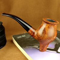 New Style Rosewood Bent Type Vertical Smoking Pipe Wooden Tobacco Pipe for Smoking Weed Pipe With 10 Tools Set
