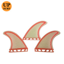 Surf Fins Future G7 Light Red Honeycomb Fin white with red range Surfing tri set