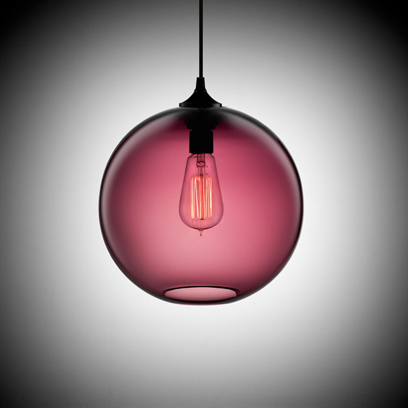 Modern art deco Hanging colorful glass ball e27 Pendant Lamp with led Lights cord for restaurant dining/living room Kitchen bar ...