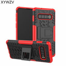 For Samsung Galaxy S10 Case Shockproof Armor Rubber Phone Back Cover Kickstand Shell