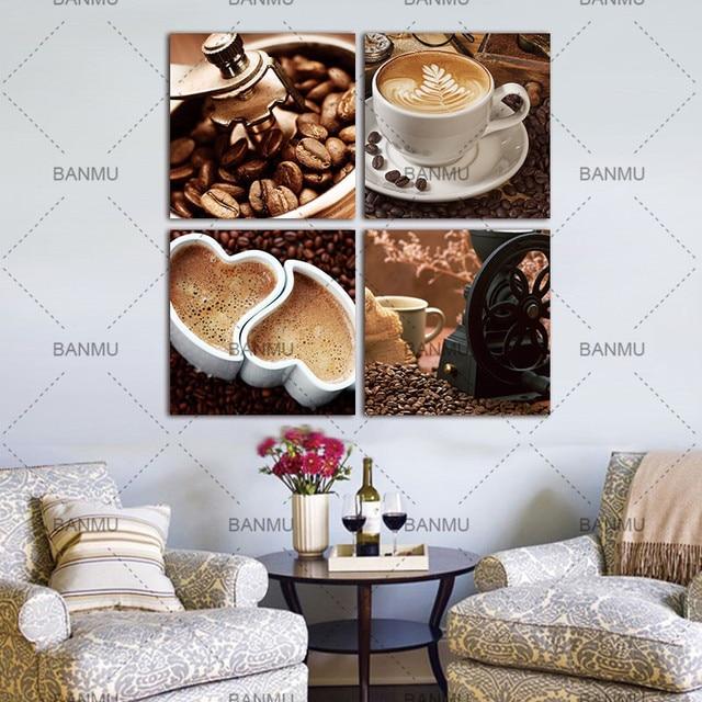 Aliexpress.com : 4 Stück leinwand kunst Kaffee Küche moderne ...
