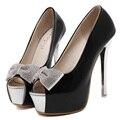 Женские туфли с открытым носком 14 см высокие каблуки туфли на высоком каблуке платформы женщина свадебные ну вечеринку Sapato Feminino