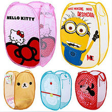 Minions Cartoon Dirty Clothing Laundry Bucket Storage Basket Bag Folding Children's Toys Storage Sundries Organizer Basket